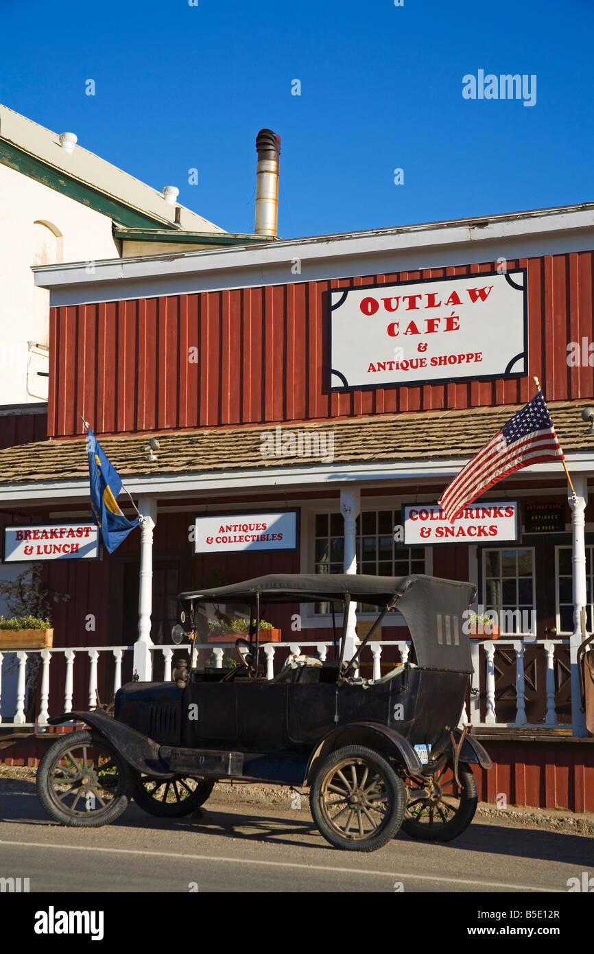 Outlaw Cafe, Historic Virginia City, Bozeman Region, Montana, USA, North America - Stock Image