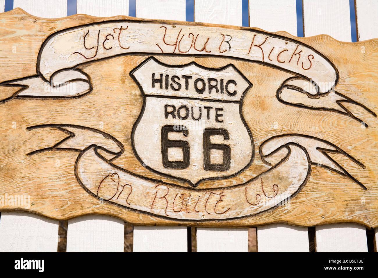 Memorabilia, Route 66 Motel, Barstow, California, USA, North America - Stock Image