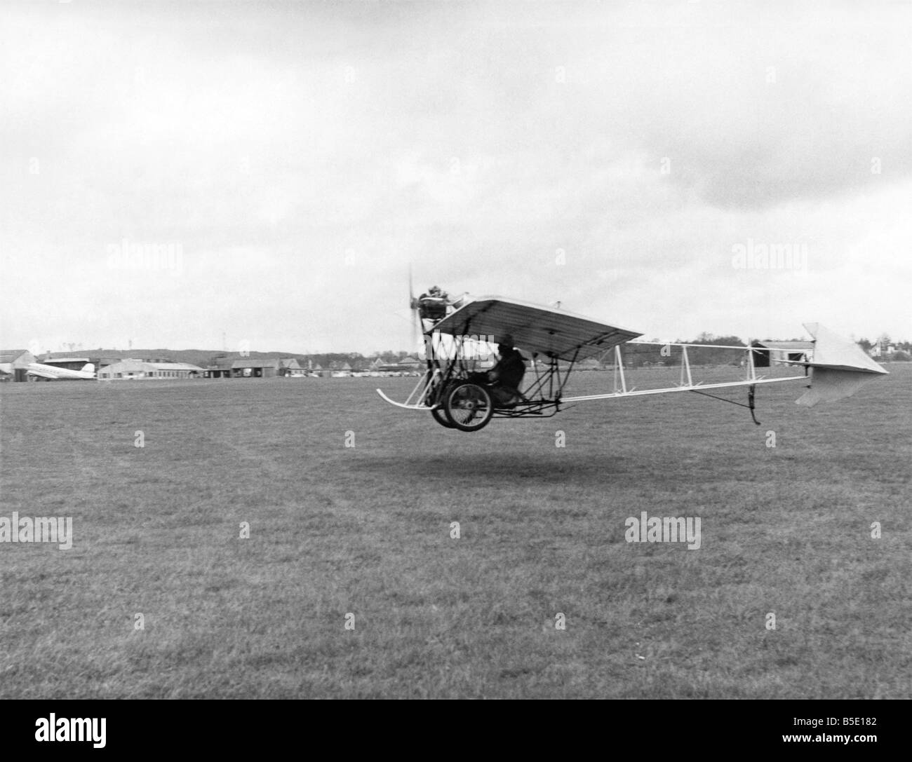 Those Magnificent Men in their Flying Machines is the title of a new 20th Century-Fox film but it was a lady who Stock Photo