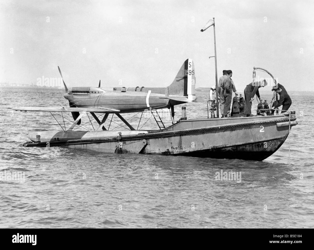 Schneider Trophy Race 1931. The Supermarine Rolls-Royce Seaplane S.6.B. which obtained the Schneider trophy for Stock Photo