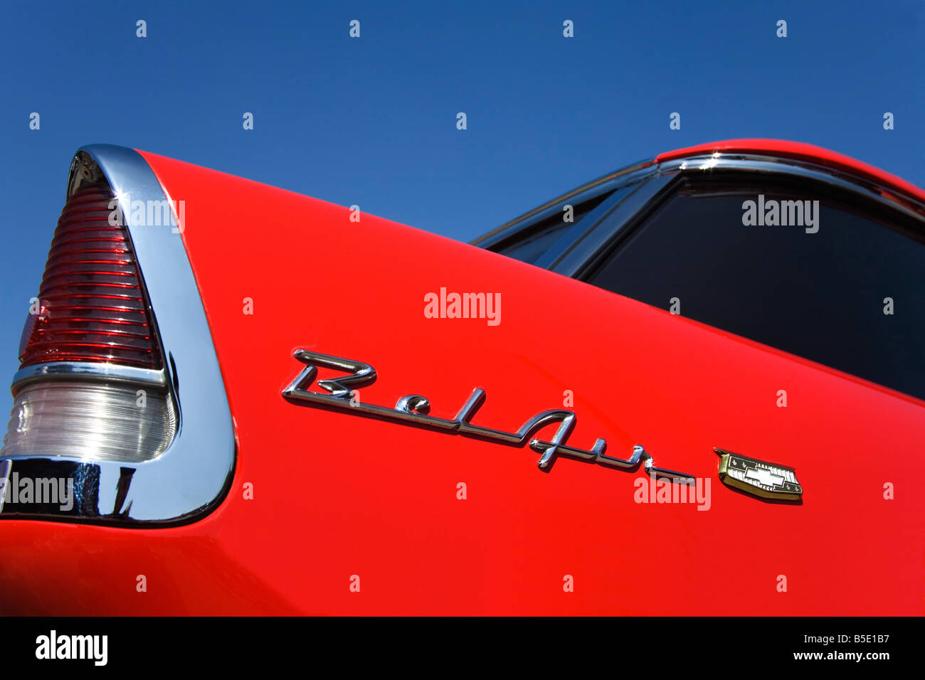 Rear light on 1955 Chevrolet Nomad Bel Air, USA, North America - Stock Image