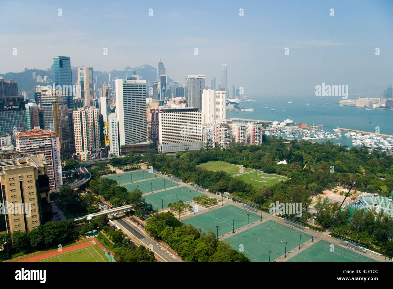 an aerial view of hong kong including victoria park causeway bay stock photo 20592108 alamy. Black Bedroom Furniture Sets. Home Design Ideas