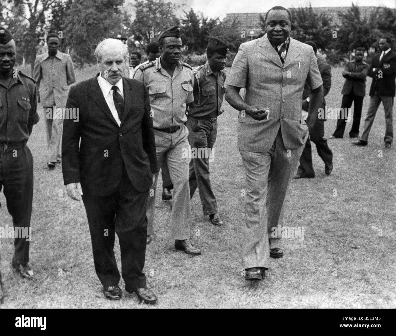 General Idi Amin of Uganda with his associate Bob Astles, a former ...