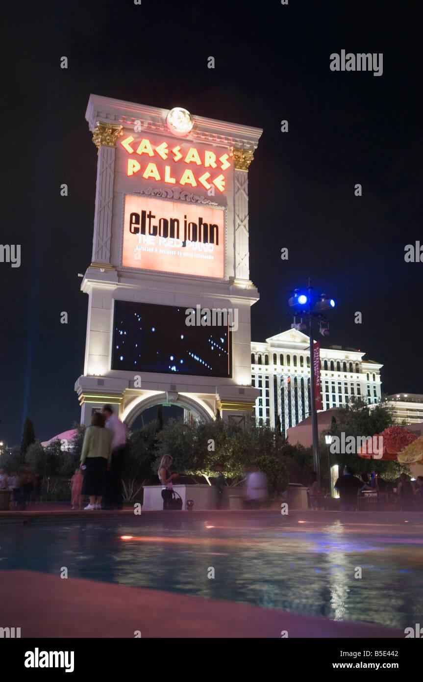 Caesar's Palace sign, Las Vegas, Nevada, USA, North America - Stock Image
