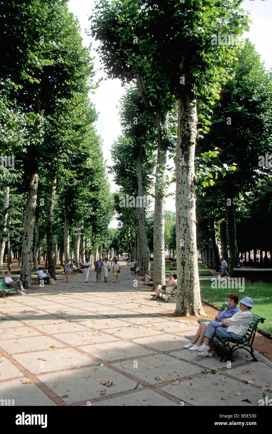 Thermal park of Vichy, France - Stock Image