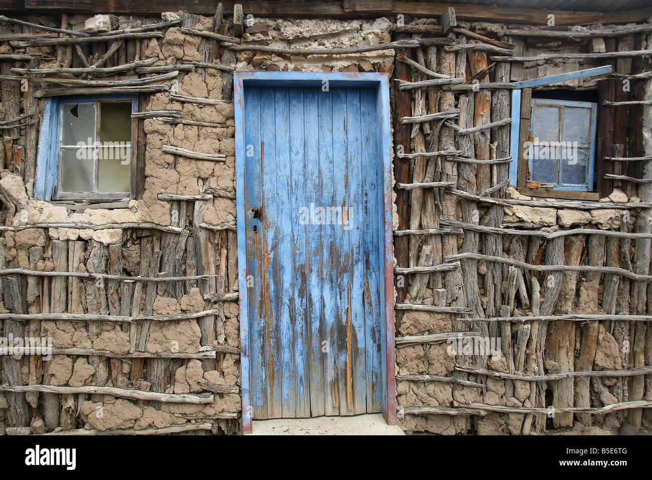 Mud & stick hut, Lubombo, Swaziland, Africa - Stock Image