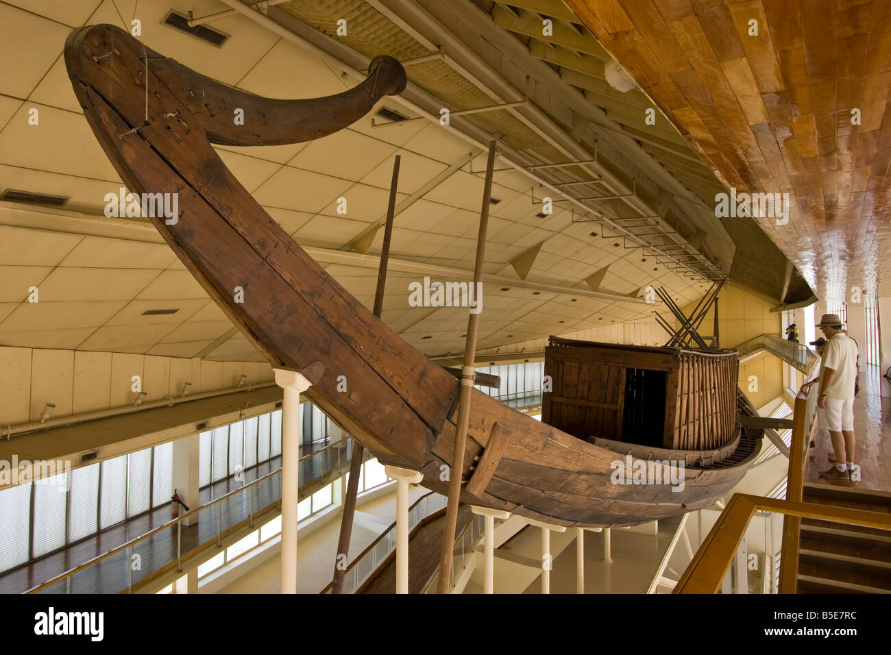 Solar Barque of Khufu in Giza in Cairo Egypt - Stock Image