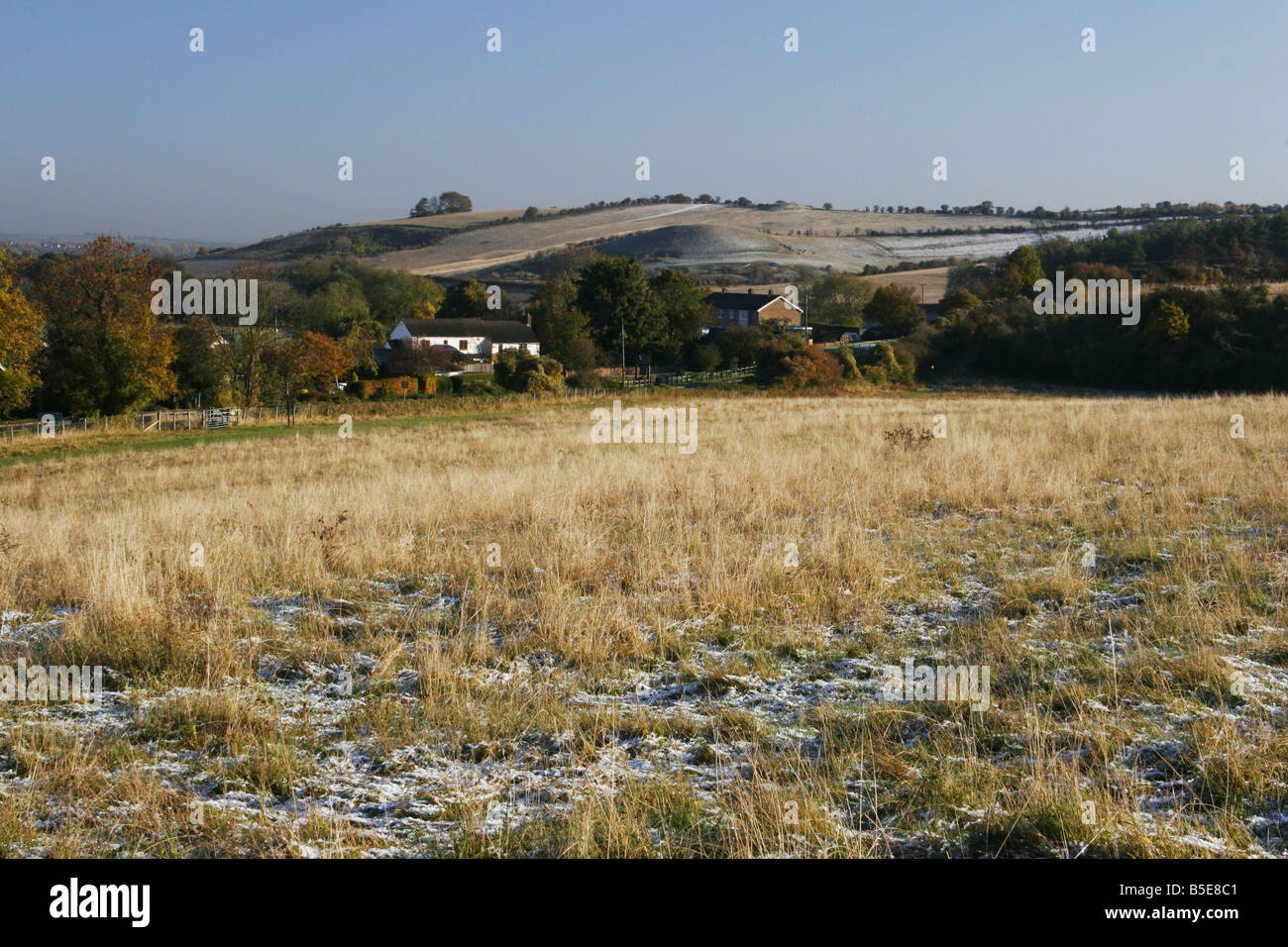 Pegsdon Hills in winter Bedfordshire Chilterns - Stock Image