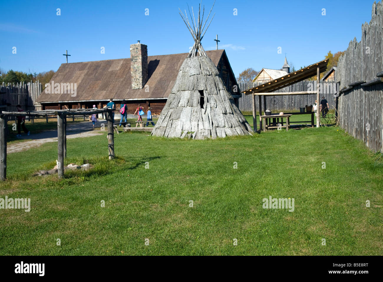 Sainte-Marie among the Hurons Indian Village Midland Ontario Canada - Stock Image