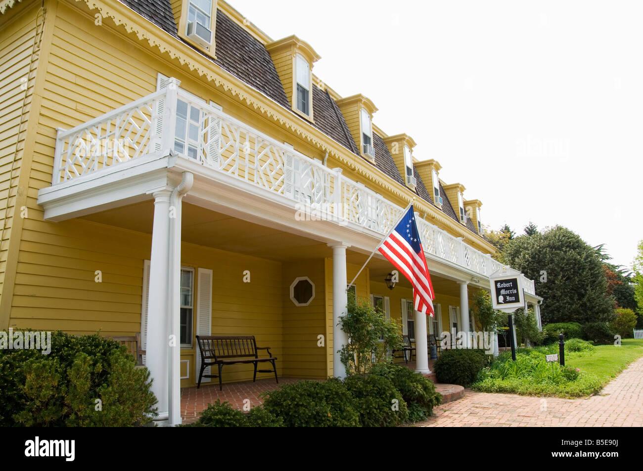 Famous historic Robert Morris Inn, Oxford, Talbot County, Chesapeake Bay area, Maryland, USA, North America - Stock Image