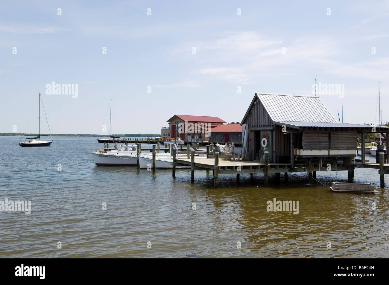 St. Michaels, Miles River, Chesapeake Bay area, Maryland, USA, North America - Stock Image