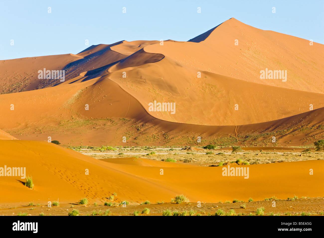 Africa, Namibia, Sossusvlei, Sand Dunes in Namib Desert - Stock Image