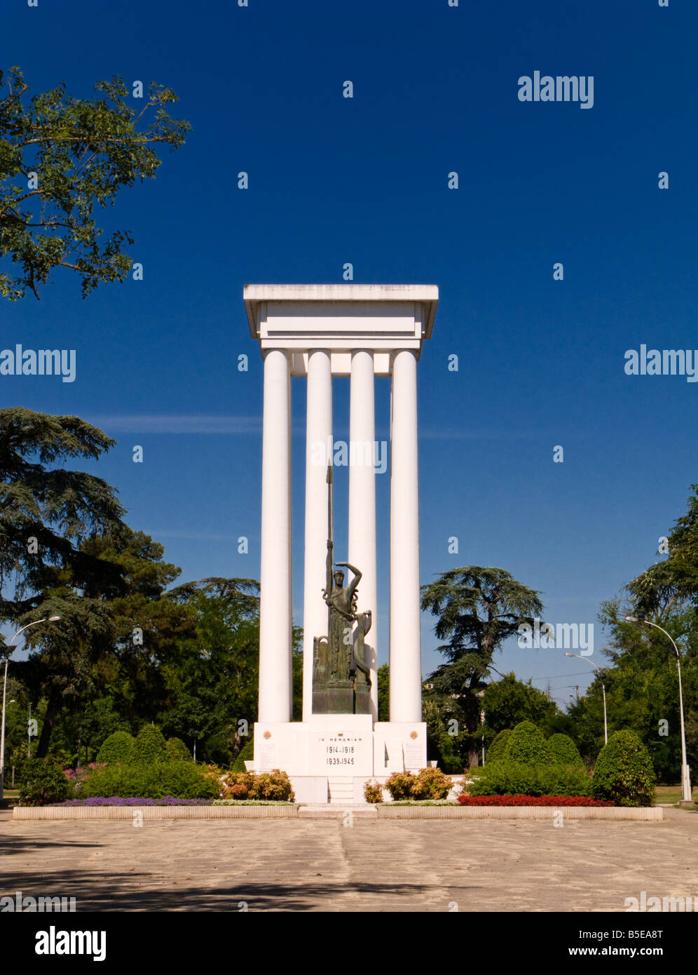 Monument to the dead of two World Wars in Montauban, Tarn et Garonne, France Europe - Stock Image
