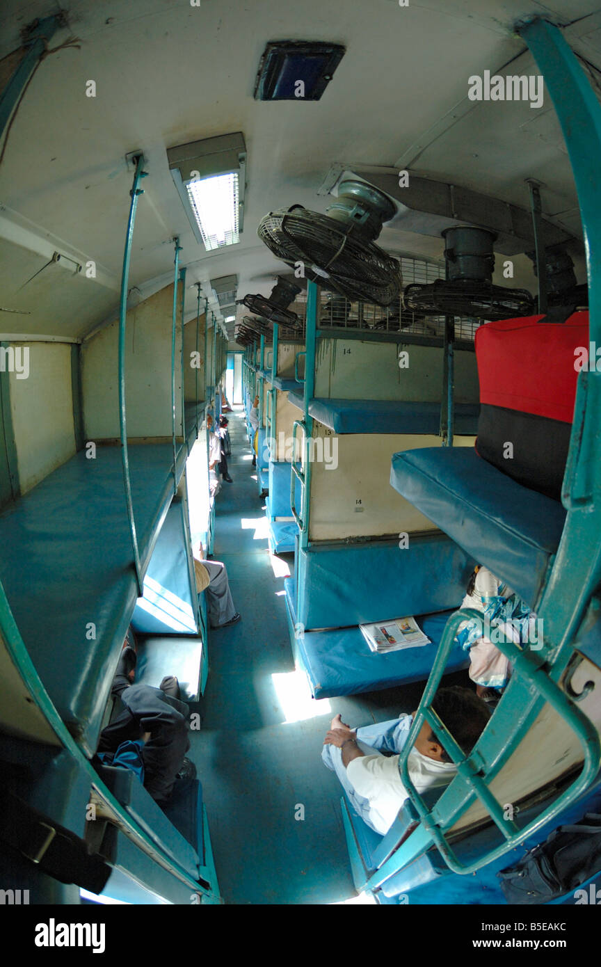 India Karnataka 2005 Interior Of 2nd Class Sleeper No Air