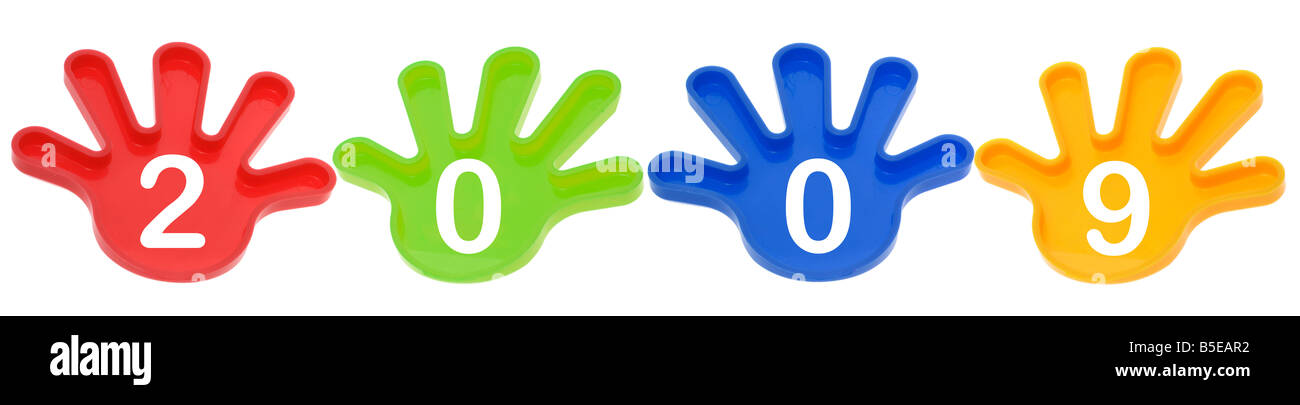 Toy Hands with 2009 - Stock Image