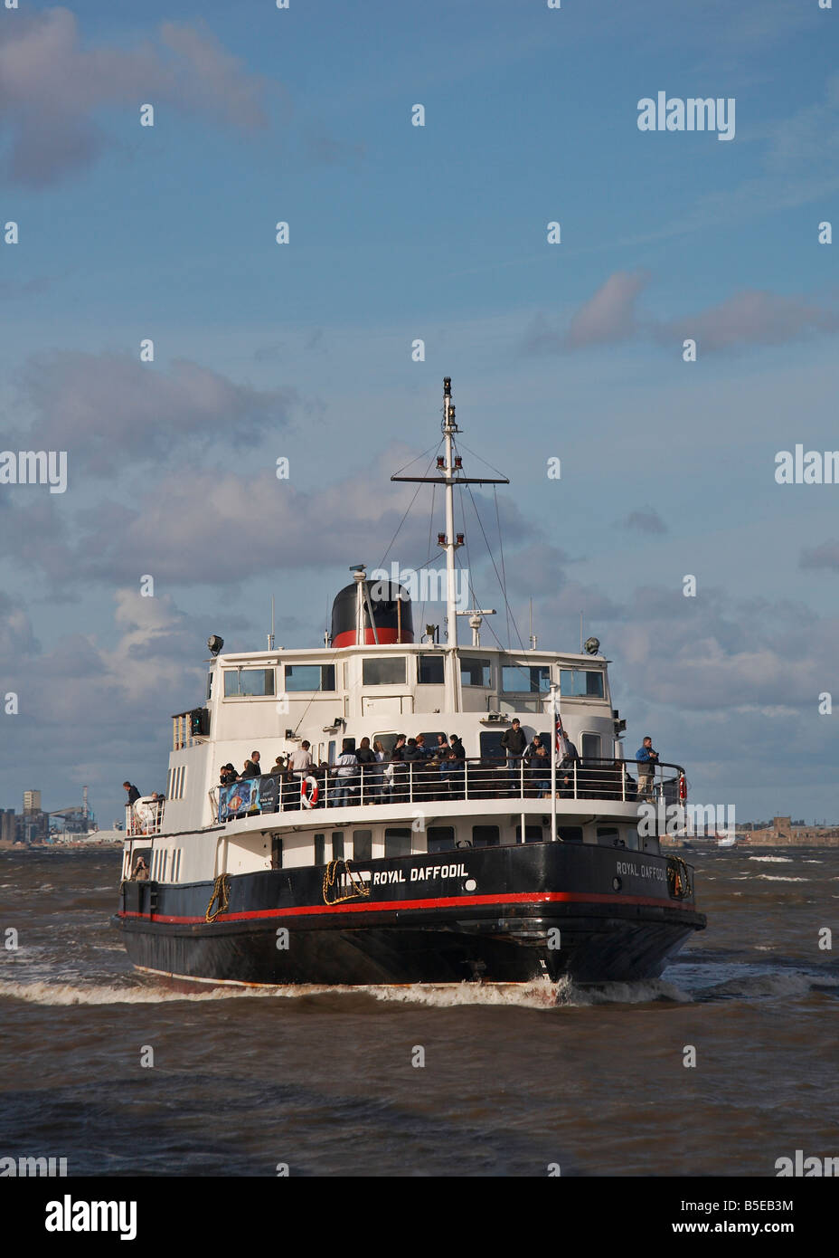 The Royal Daffodil, one of the Mersey Ferries crossing between Liverpool and the Wirral peninsula - Stock Image