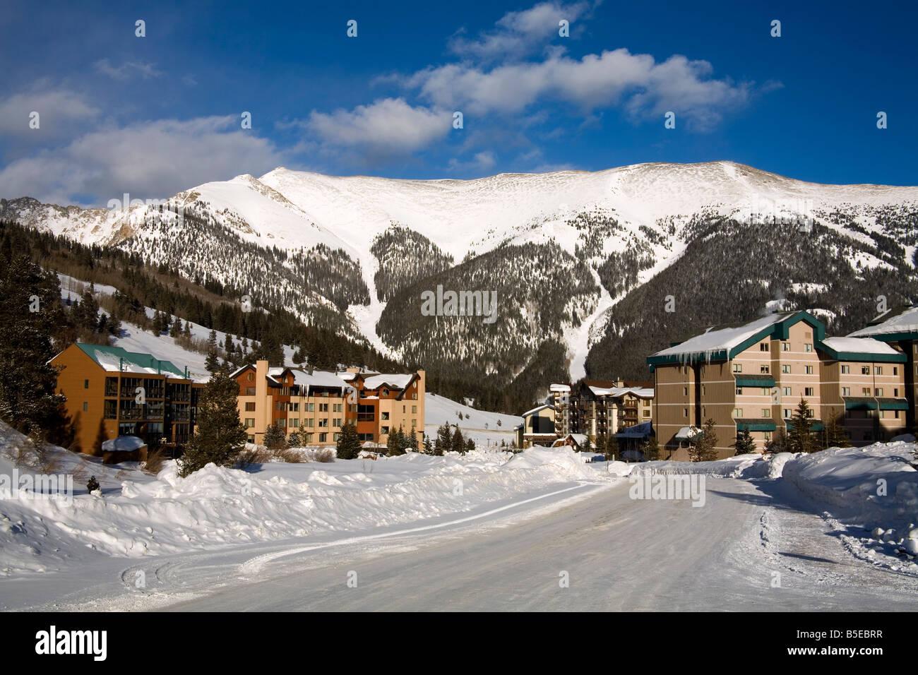 copper mountain ski resort, rocky mountains, colorado, usa, north