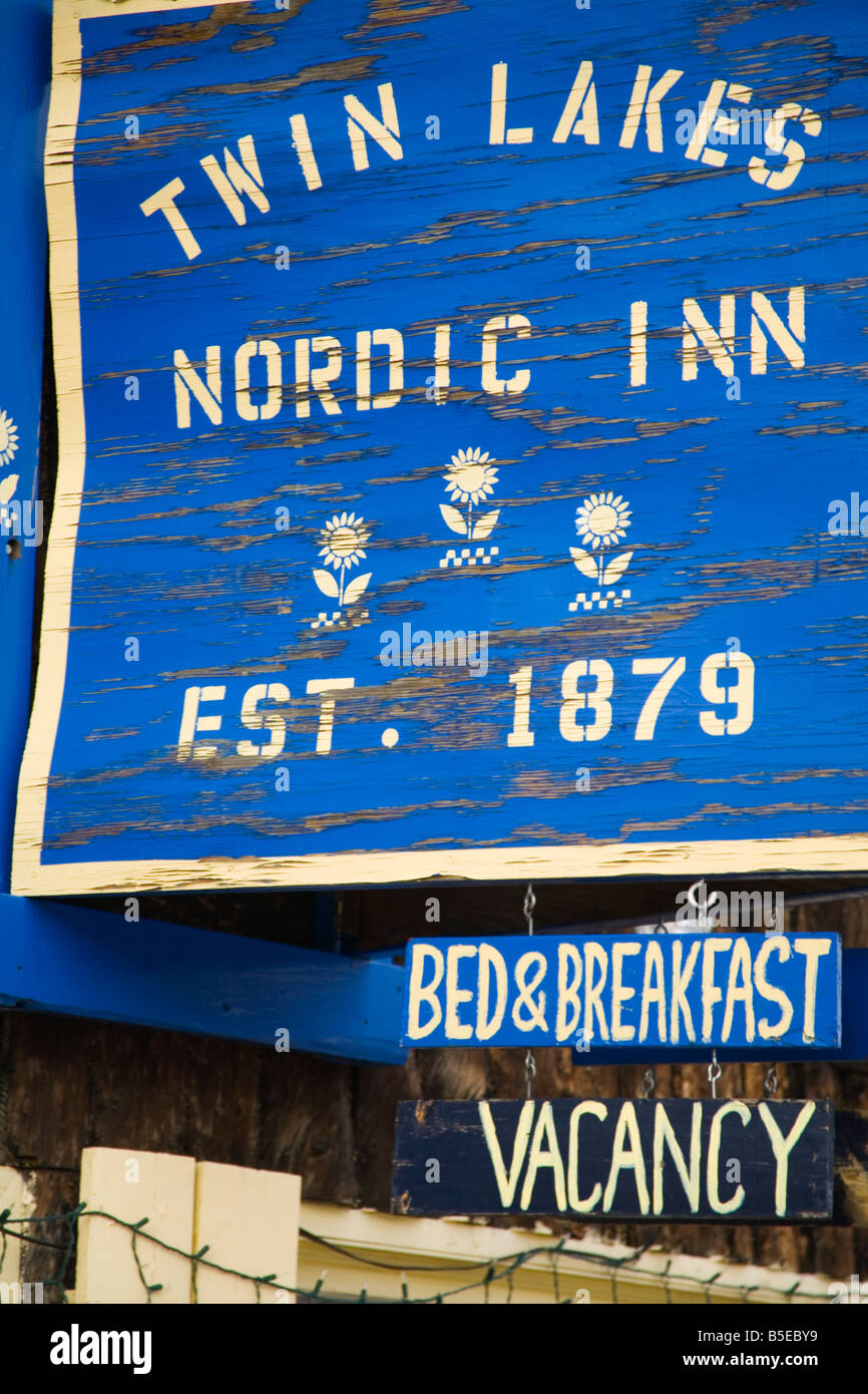 Historic Nordic Inn at Twin Lakes Village, Sawatch Range, Colorado, USA, North America - Stock Image