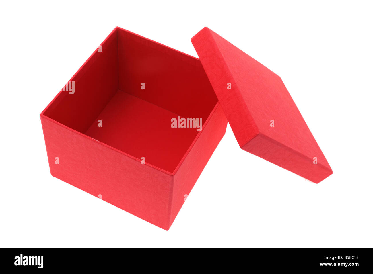 Red Gift Box - Stock Image