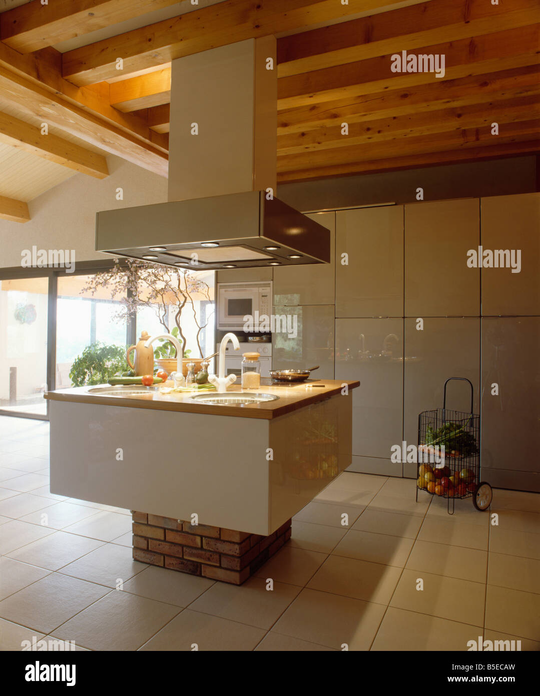 kitchen island extractor fan large extractor fan above sink in island unit in modern 19723
