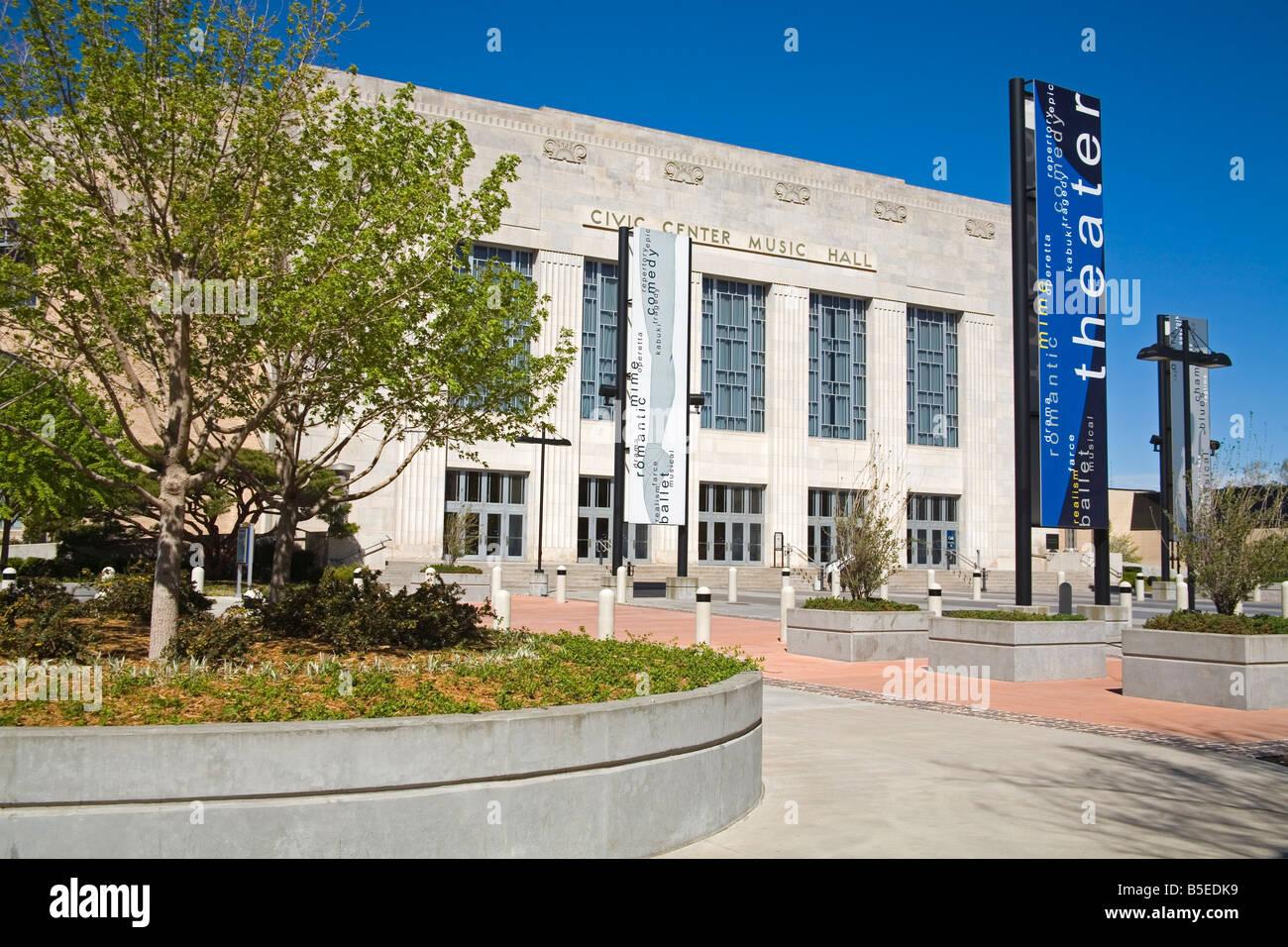 Civic Center Music Hall, Oklahoma City, Oklahoma, USA, North America - Stock Image