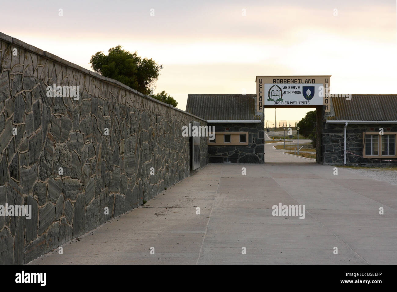 Robben island prison entrance gate cape town south africa