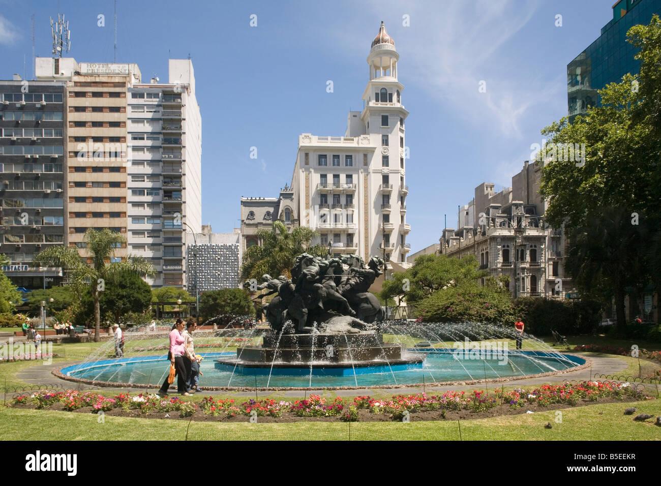 Plaza Fabini Montevideo Uruguay South America Stock Photo