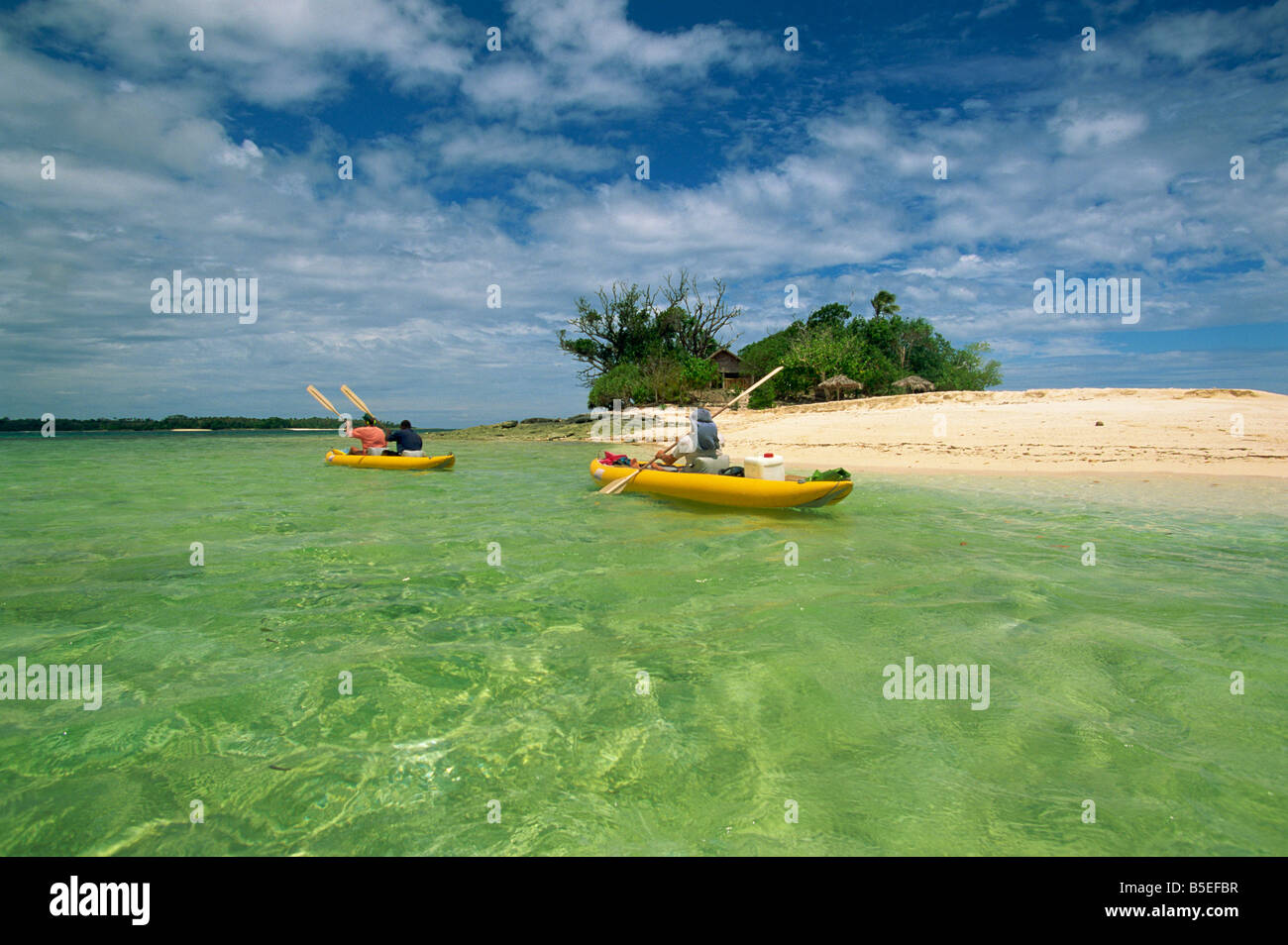 Sea kayaking with Cutting Edge Adventures, Efale, Vanuatu, Pacific Islands, Pacific - Stock Image