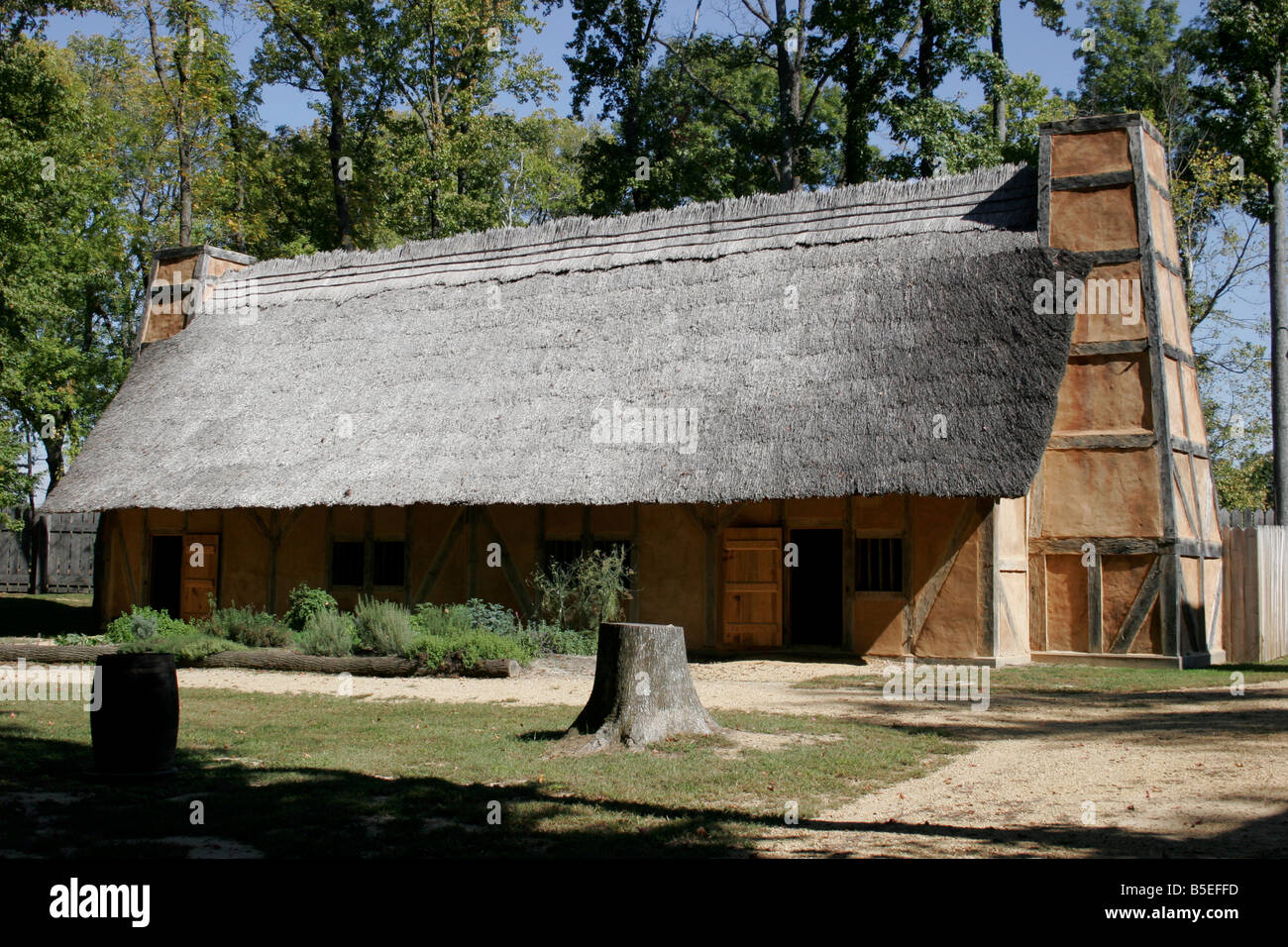 Mt.Malady in henricus, the first hospital in America. - Stock Image