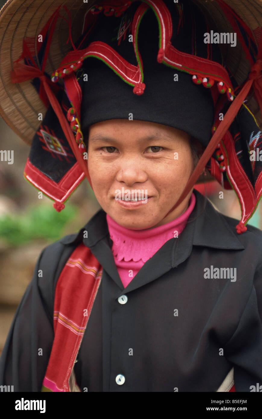 Black Thai woman near Dien Bien Phu North Vietnam Vietnam Indochina Southeast Asia Asia - Stock Image