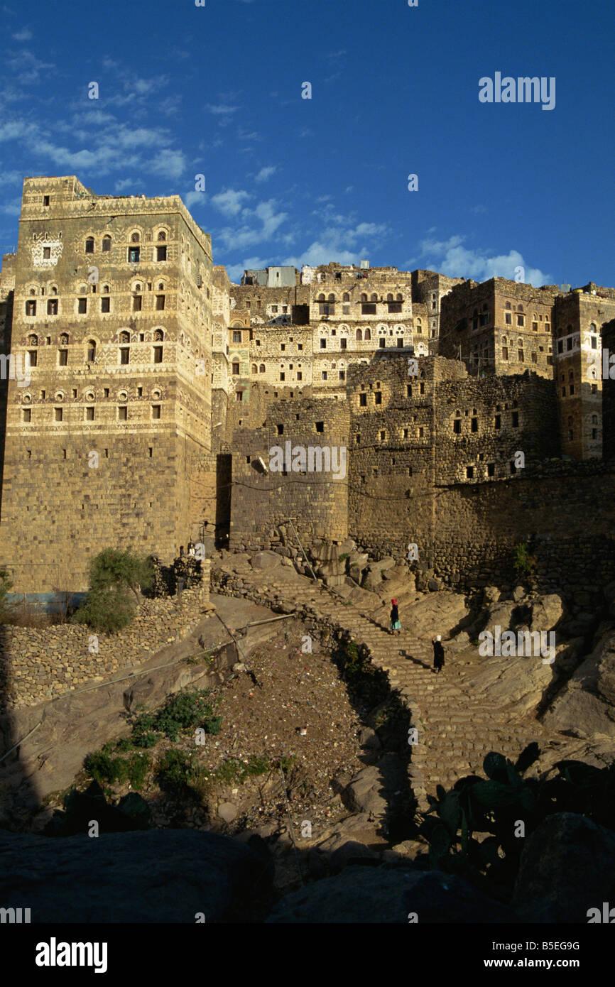 Manakhat village, S'ana Province, Yemen, Middle East - Stock Image