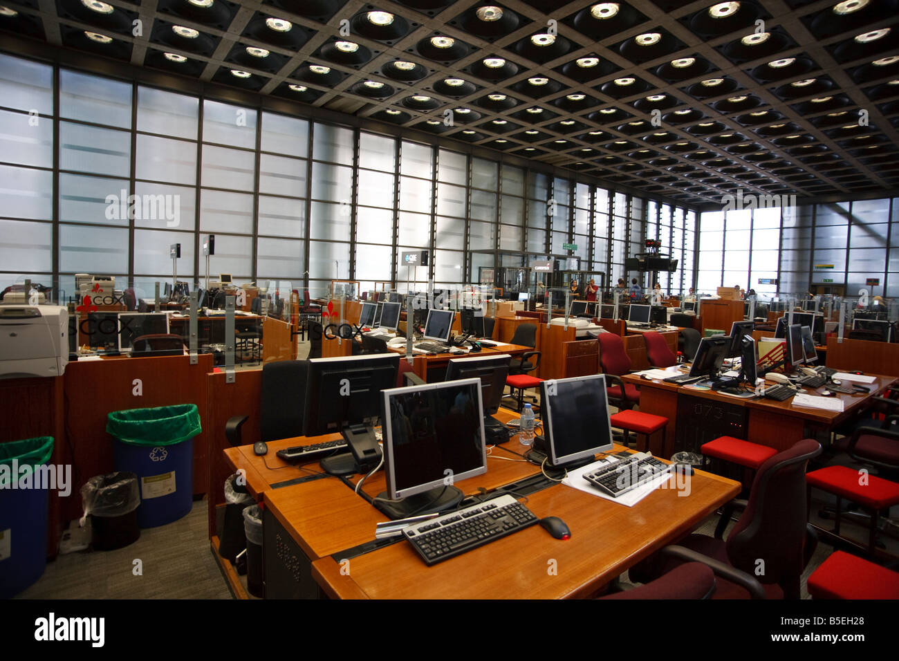 The Underwriting Room At Lloyds Of London Stock Photo