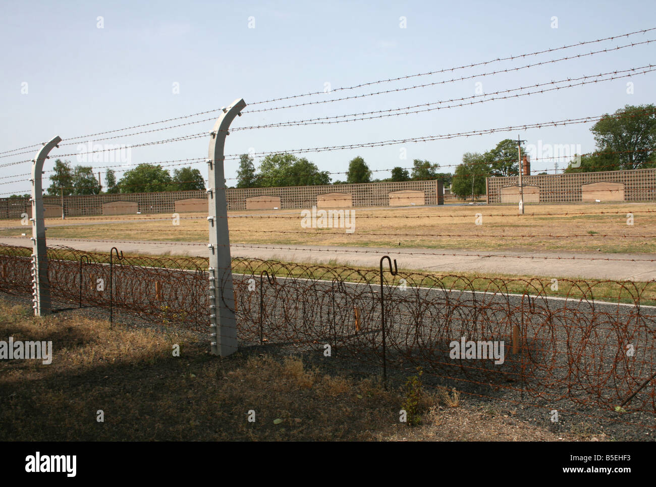 barbed wire fence Sachsenhausen Concentration camp Berlin Germany ...