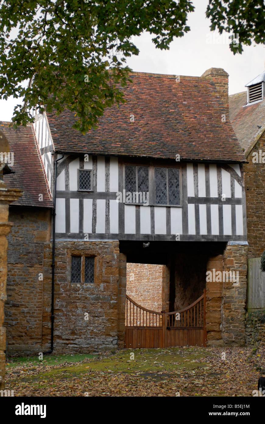 The Gunpowder Plot room above the Gatehouse at Ashby St Ledgers Manor, Northants., UK. - Stock Image