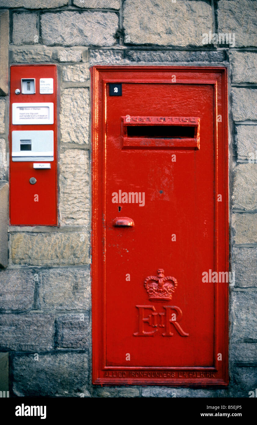Queen Elizabeth Ii Post Office Letter Box With Accompanying