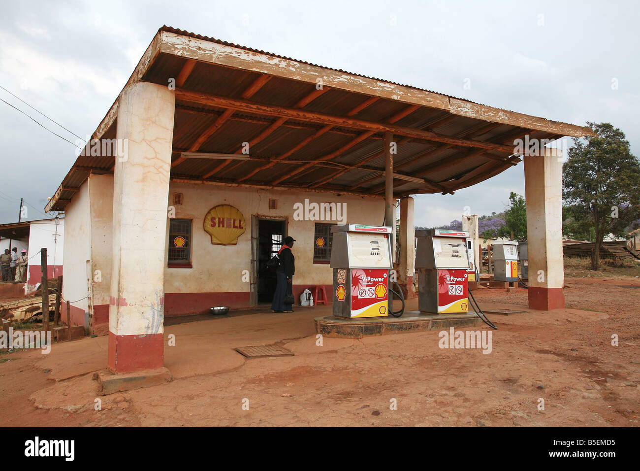 Shell petrol station, Gege, Swaziland, Africa - Stock Image