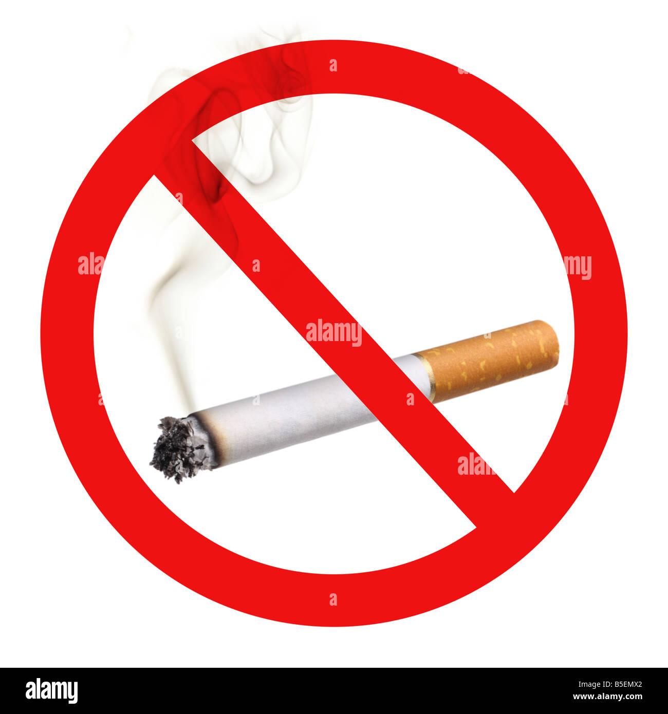No Smoking Symbol Cutout On White Background Stock Photo 20607386