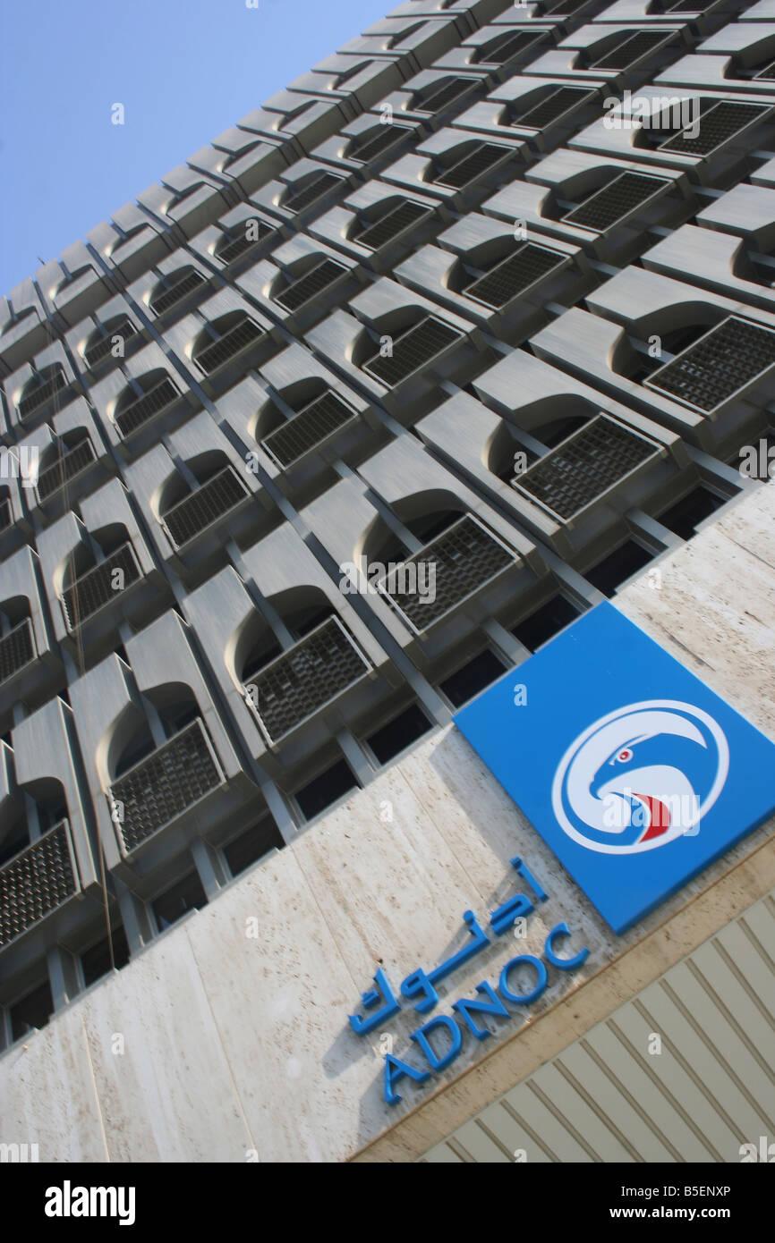 Abu Dhabi National Oil Company ADNOC Logo UAE HQ Stock Photo