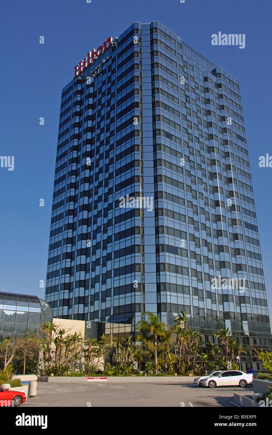 Hilton Hotel Universal City CA . Universal Studios Hollywood, Citywalk - Stock Image