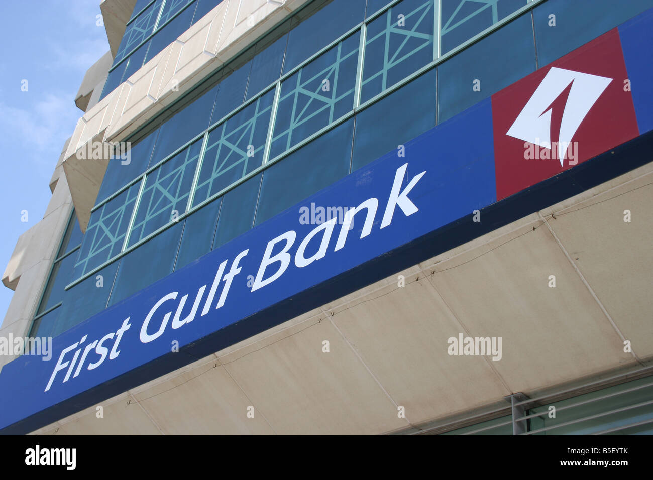 First Gulf Bank Building Exterior sign Abu Dhabi