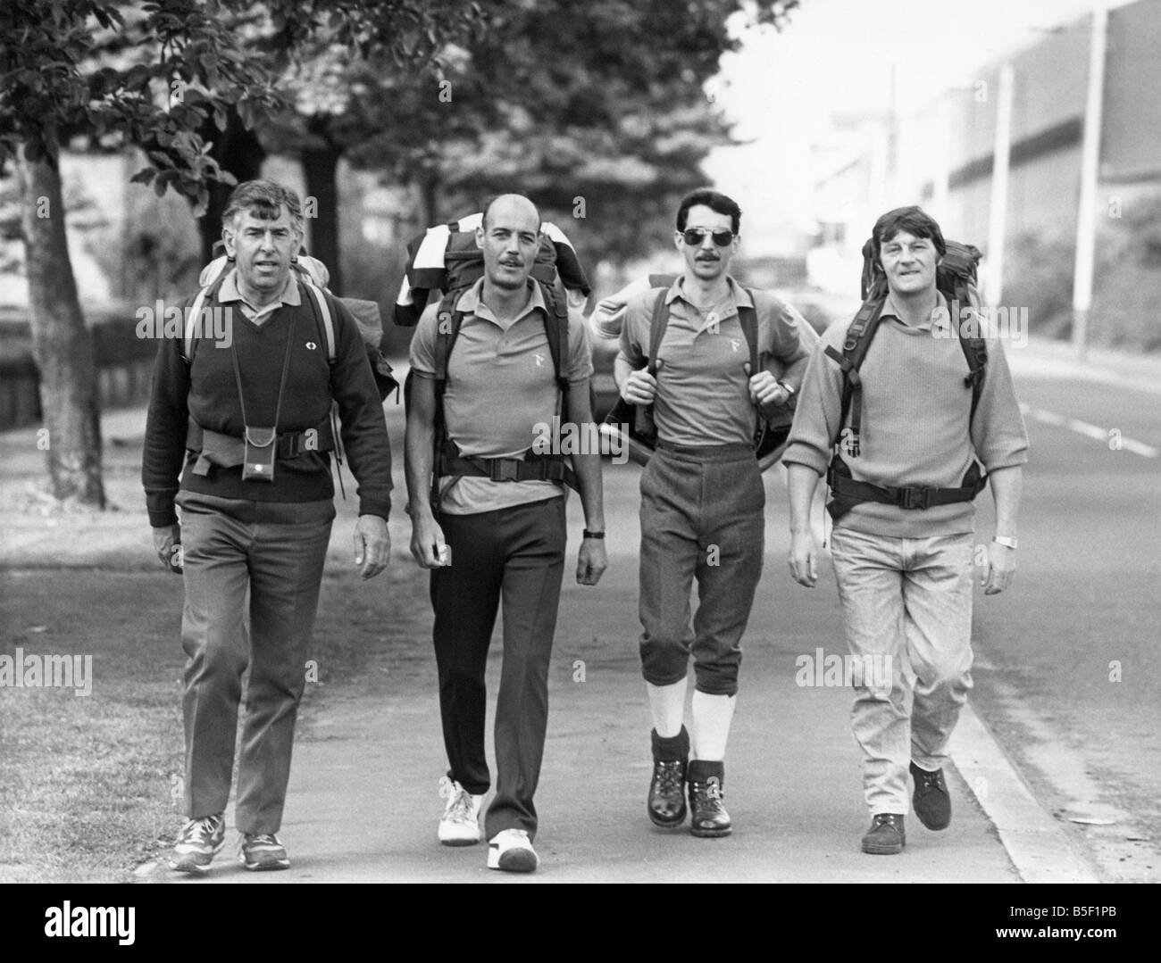Best foot forward police officers left to right John Tyrrell David Summers Ray Armstrong and Glen Gowland as they - Stock Image