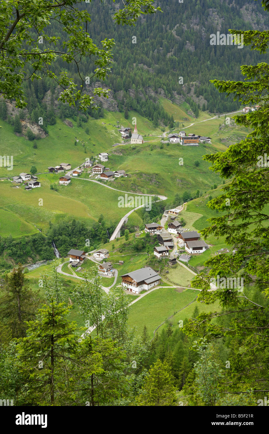 Village in Val Passiria, South Tyrol, Trentino - Alto Adige, Italy - Stock Image