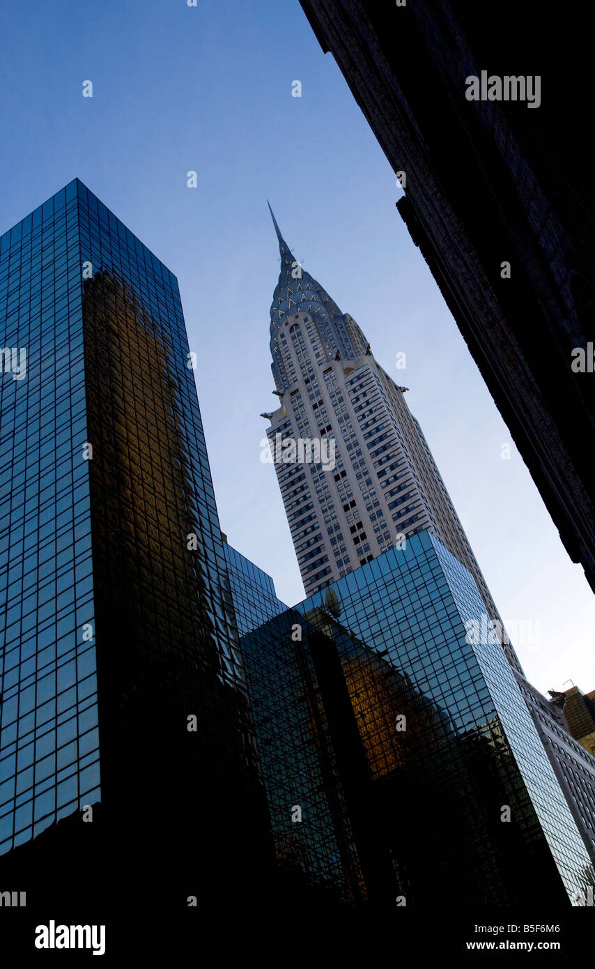 Chrysler Building,new york,new york,america,usa. - Stock Image