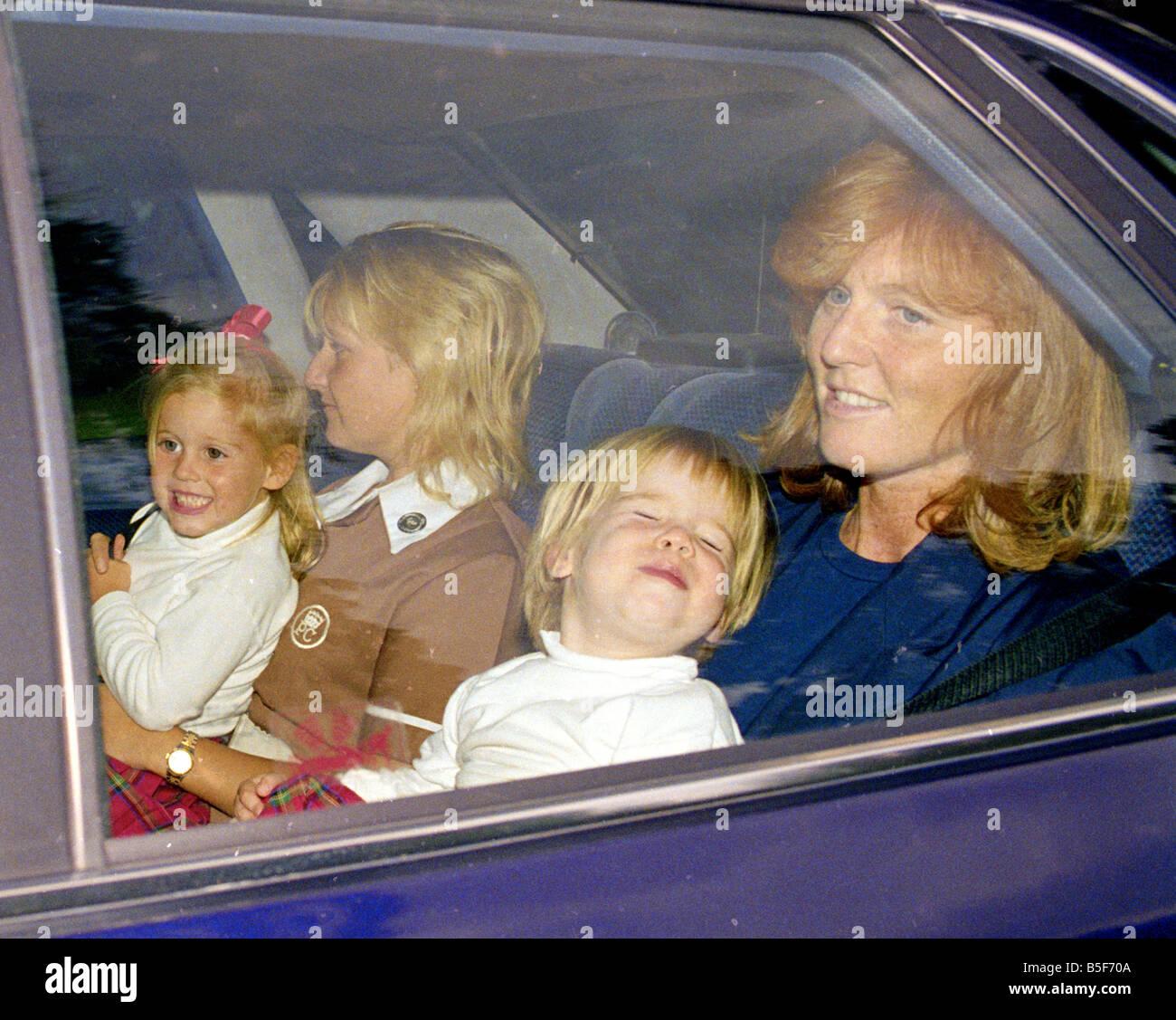 The Duchess Of York Sarah Ferguson Seen Here Leaving