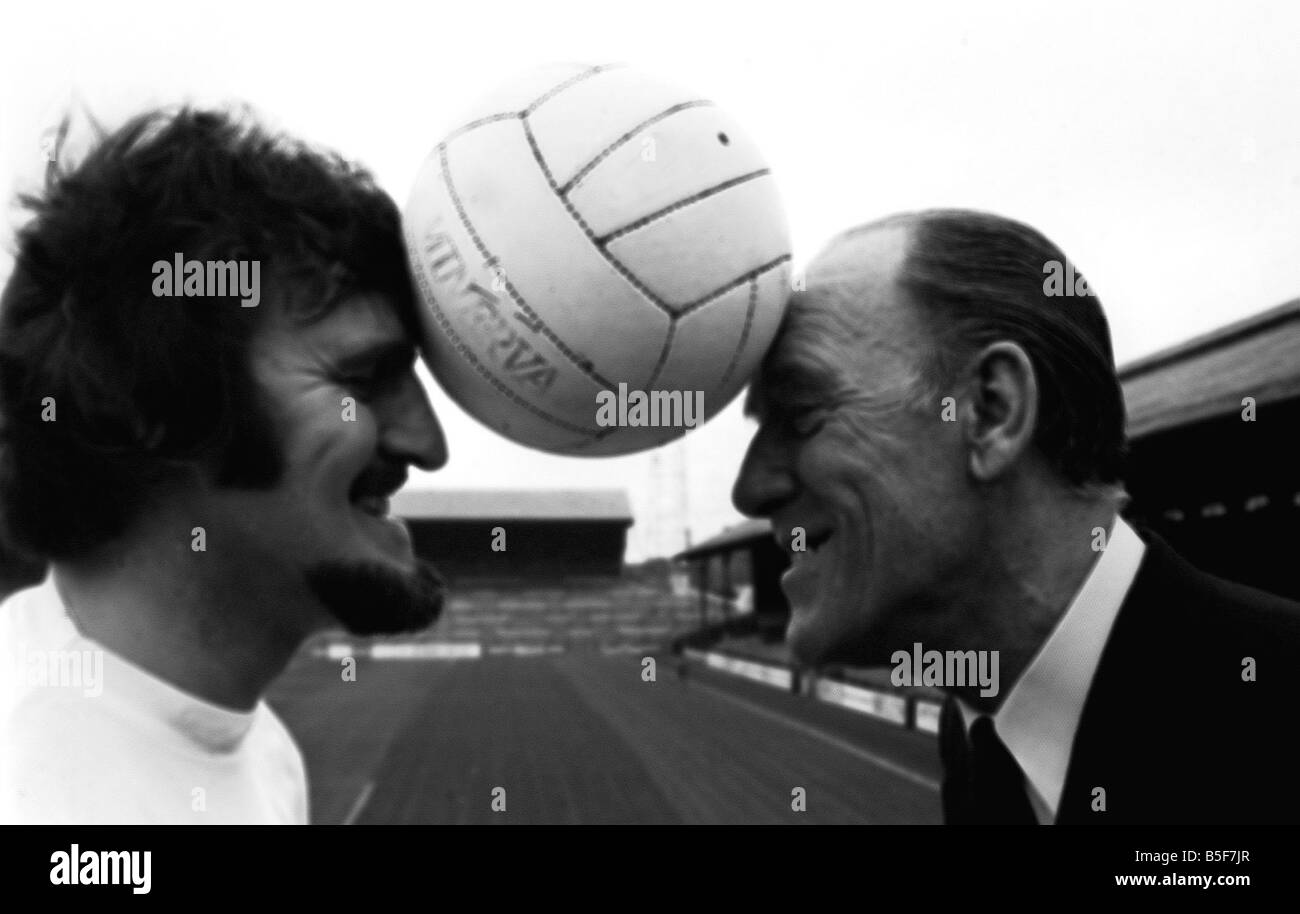 Jimmy Hill footballer now television presenter and Tommy Trinder entertainer on Hills resignation MSI Stock Photo