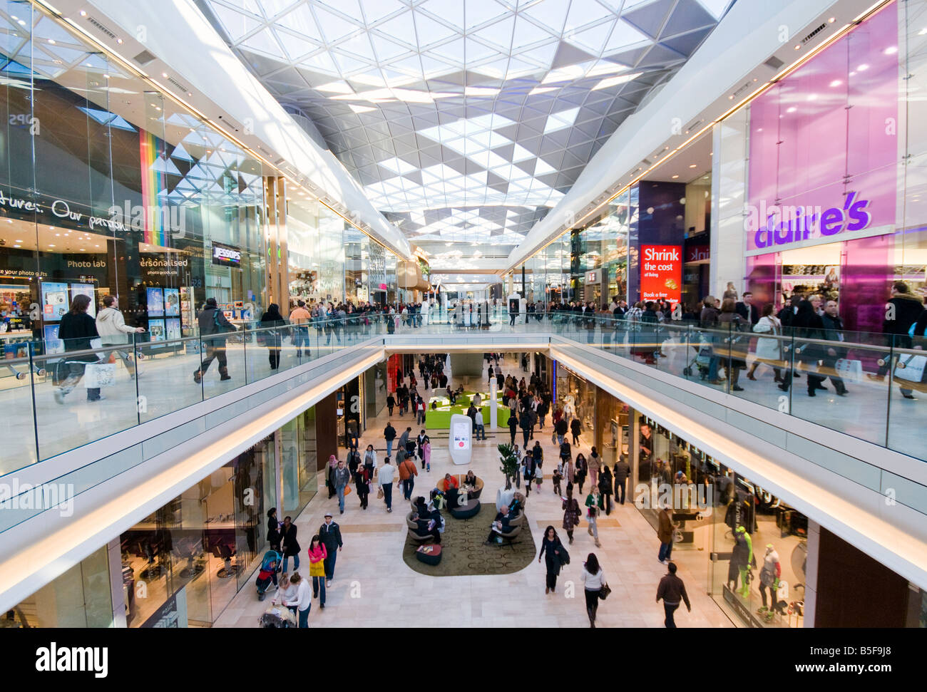 Westfield shopping mall London Stock Photo