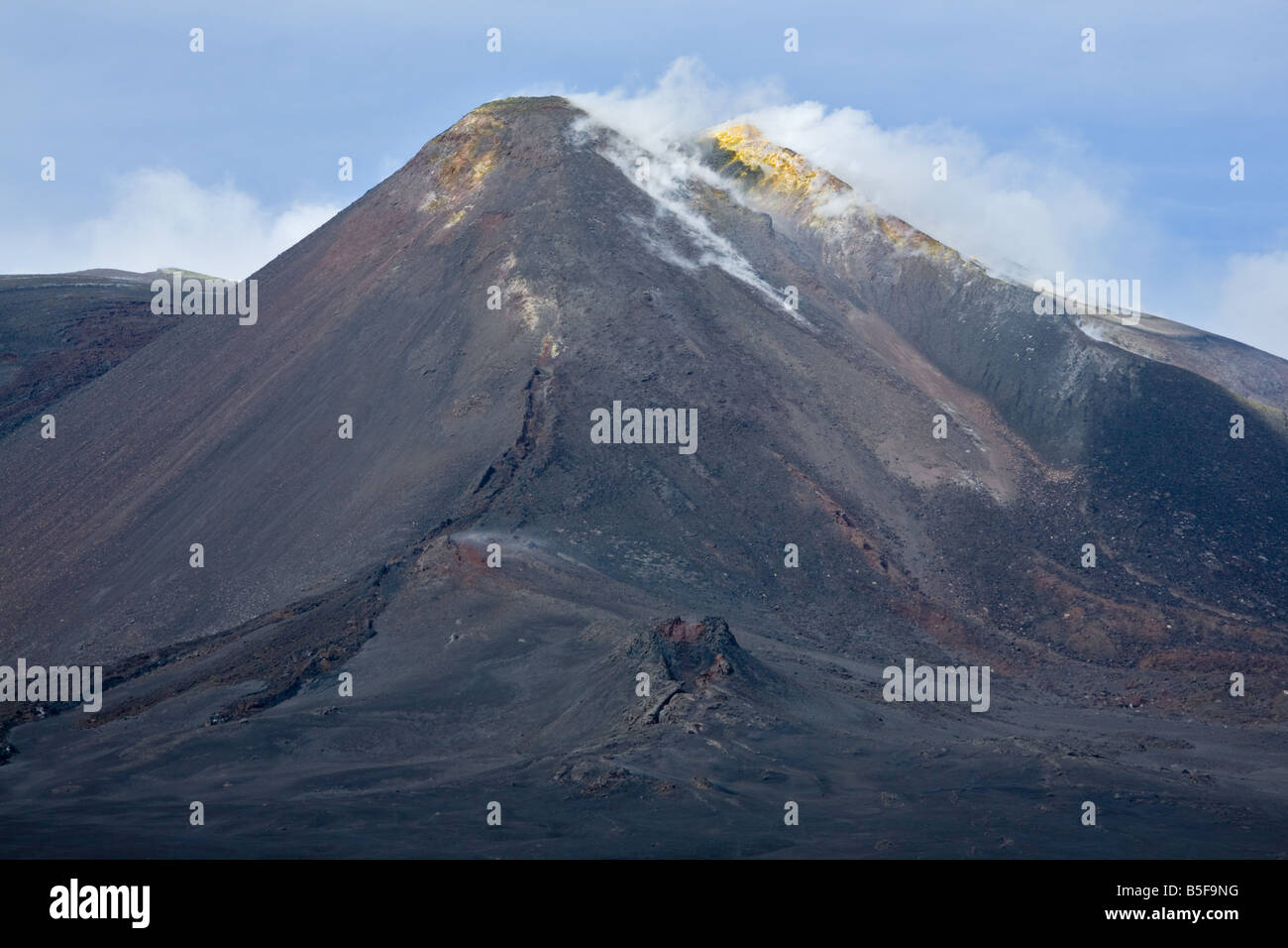 Southeast crater of Mt. Etna volcano - Stock Image