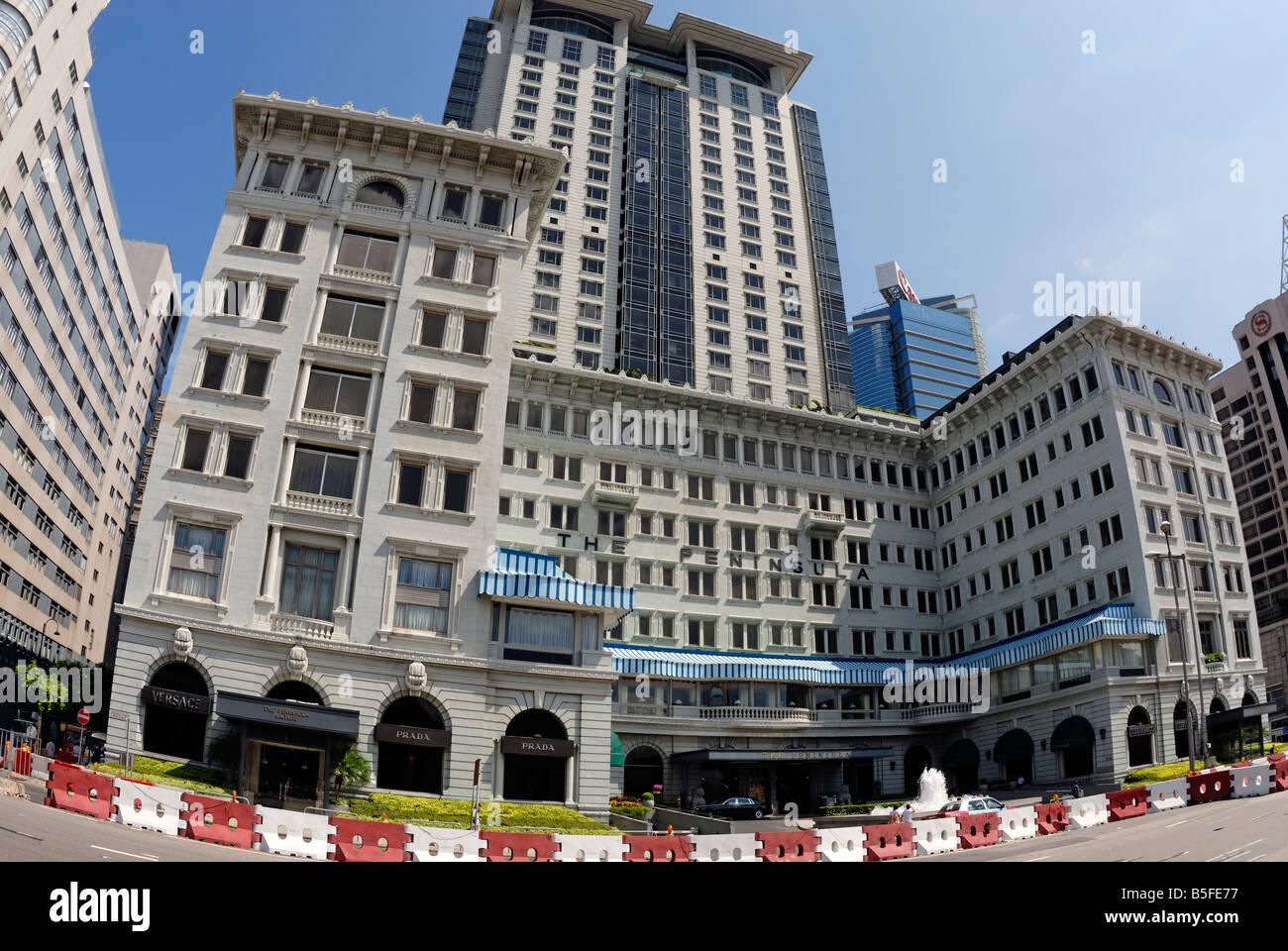 Peninsula Hotel, Kowloon, Tsim Tsa Tsui,Hong Kong - Stock Image