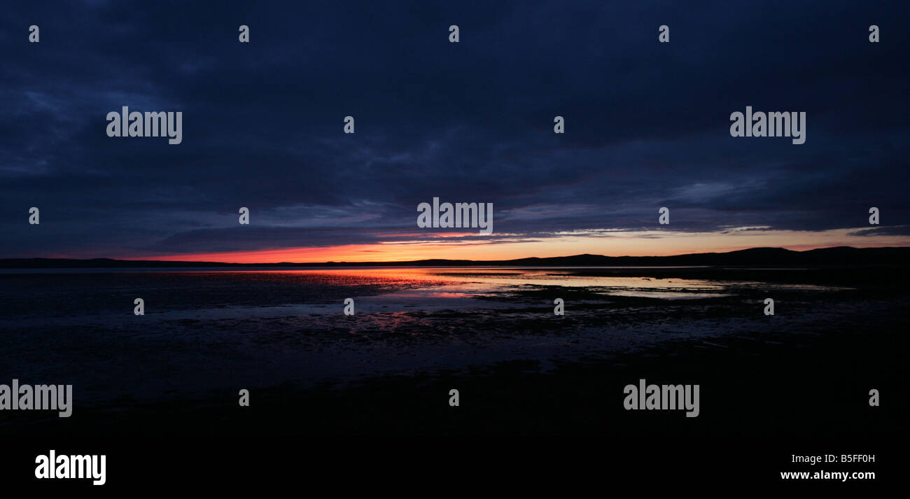 Sunset at Bowmore on the island of Islay Scotland - Stock Image