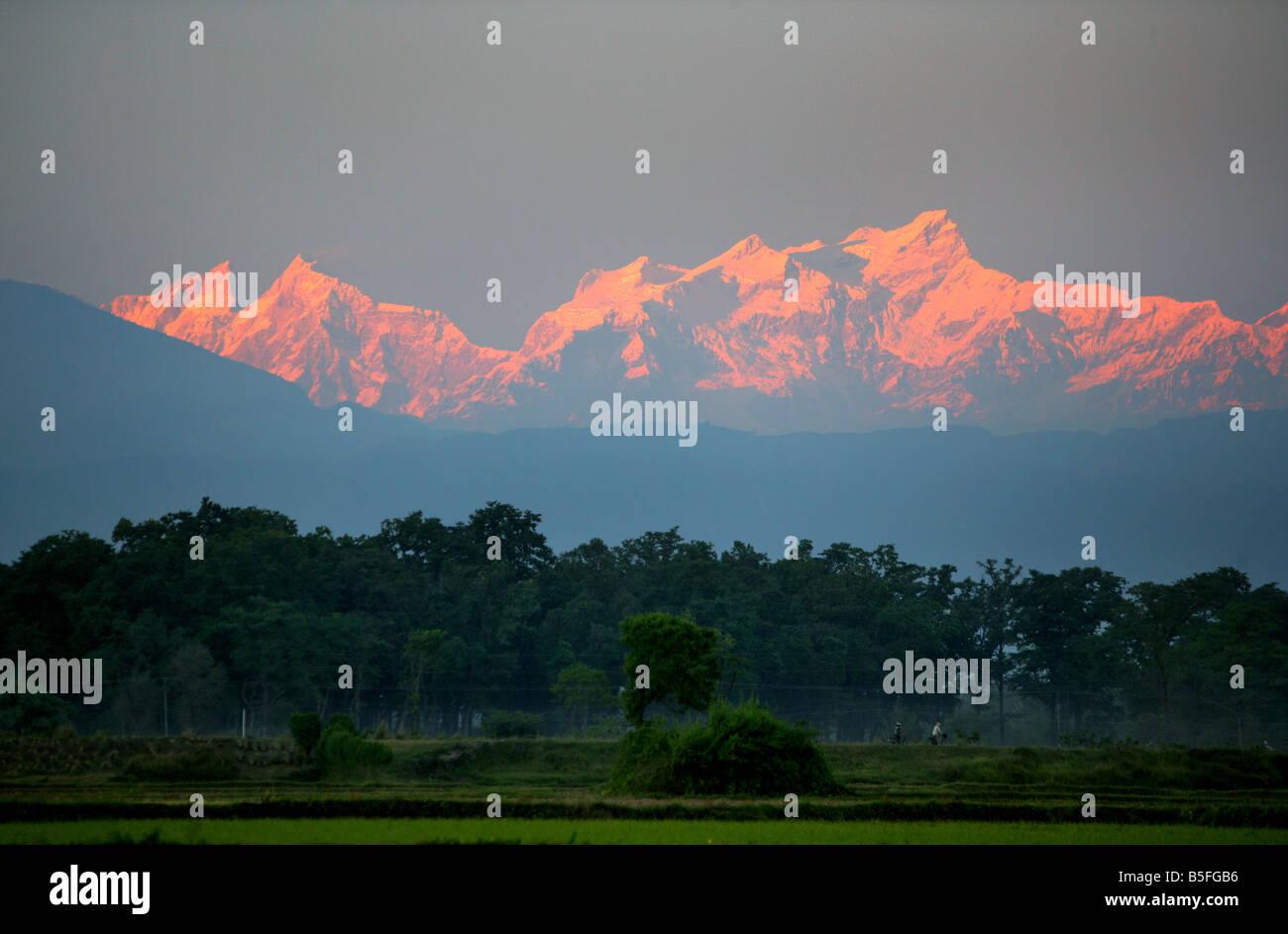 Nepal, Himalaya mountains - Stock Image